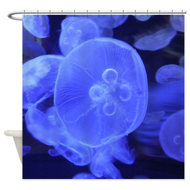 Moon Jellyfish Shower Curtain by picsofnature