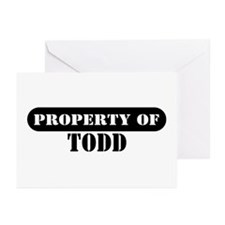 Property of Todd Greeting Cards (Pk of 10)