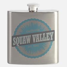 Squaw Valley Ski Resort California Sky Blue Flask