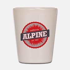 Alpine Meadows Ski Resort California Red Shot Glas