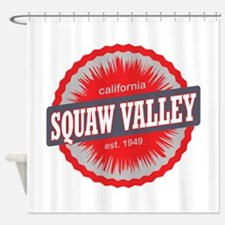 Squaw Valley Ski Resort California Red Shower Curt