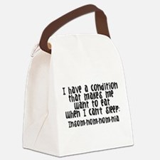 Insom-nom-nom-ia Canvas Lunch Bag