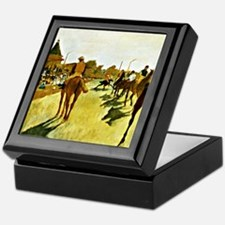 Racehorses Before the Stands Keepsake Box