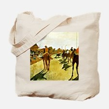 Racehorses Before the Stands Tote Bag