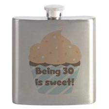 Being 30 is Sweet Birthday Flask