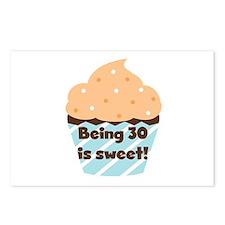 Being 30 is Sweet Birthday Postcards (Package of 8