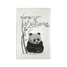 Little Panda Rectangle Magnet