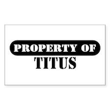 Property of Titus Rectangle Decal