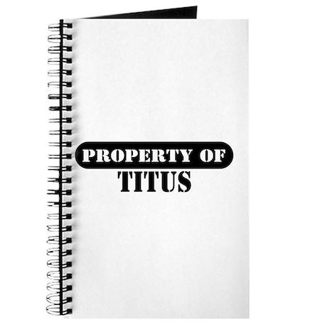 Property of Titus Journal