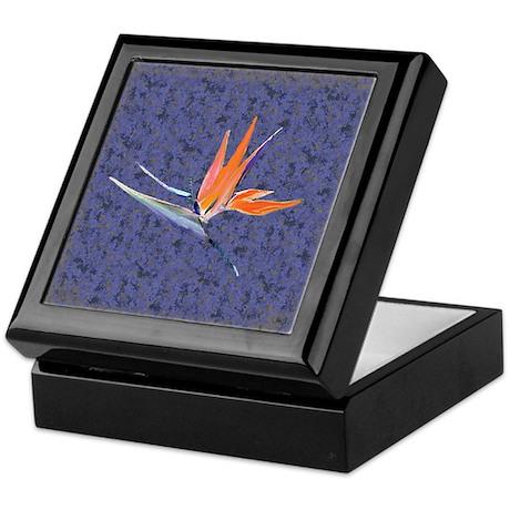 Blue Bird of Paradise Keepsake Box