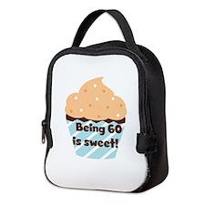 Being 60 is Sweet Birthday Neoprene Lunch Bag