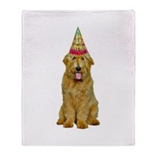 Goldendoodle Birthday Throw Blanket