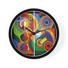 Rhythm, painting by Robert Delaunay Wall Clock