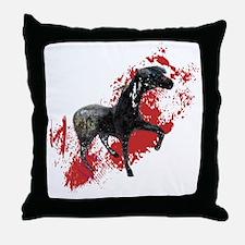Indian War Pony Throw Pillow