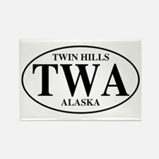Twin Hills Rectangle Magnet