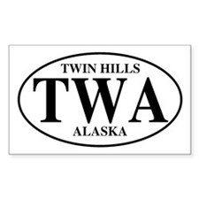 Twin Hills Rectangle Decal