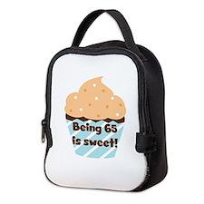 Being 65 is Sweet Birthday Neoprene Lunch Bag