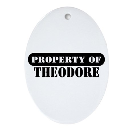 Property of Theodore Oval Ornament