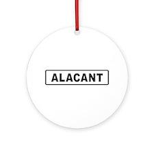 Roadmarker Alicante - Spain Ornament (Round)
