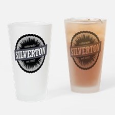Silverton Ski Resort Colorado Black Drinking Glass