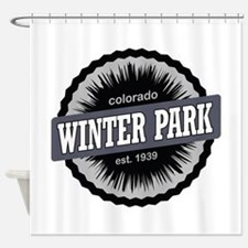 Winter Park Ski Resort Colorado Black Shower Curta