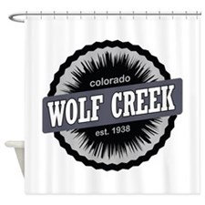 Wolf Creek Ski Resort Colorado Black Shower Curtai