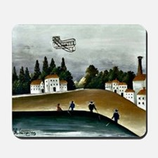 The Fishermen and the Biplane, Rousseau  Mousepad