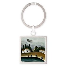 The Fishermen and the Biplane, Rou Square Keychain