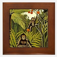 The Monkeys in the Jungle, Rousseau pa Framed Tile