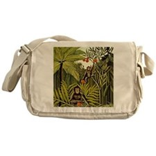 The Monkeys in the Jungle, Rousseau  Messenger Bag