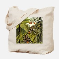 The Monkeys in the Jungle, Rousseau paint Tote Bag