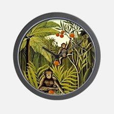 The Monkeys in the Jungle, Rousseau pai Wall Clock