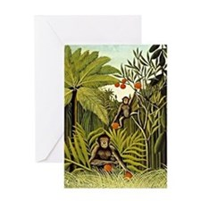 The Monkeys in the Jungle, Rousseau  Greeting Card