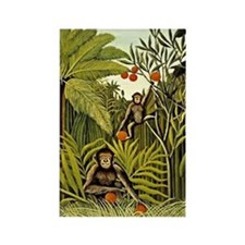 The Monkeys in the Jungle, Rousse Rectangle Magnet