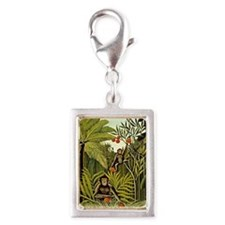 The Monkeys in the Jungle, R Silver Portrait Charm