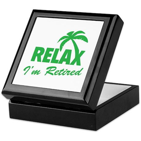 Relax I'm Retired Keepsake Box