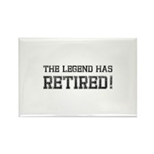 The legend has retired! Rectangle Magnet (10 pack)