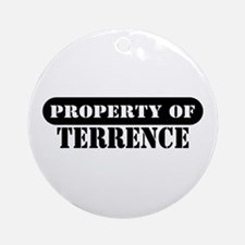 Property of Terrence Ornament (Round)