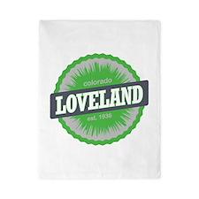 Loveland Ski Resort Colorado Lime Twin Duvet