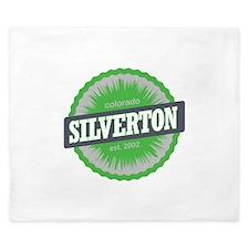 Silverton Ski Resort Colorado Lime King Duvet