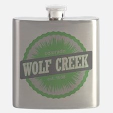 Wolf Creek Ski Resort Colorado Lime Flask