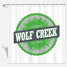 Wolf Creek Ski Resort Colorado Lime Shower Curtain
