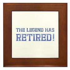 The legend has retired! Framed Tile