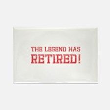 The legend has retired! Rectangle Magnet