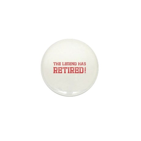 The legend has retired! Mini Button