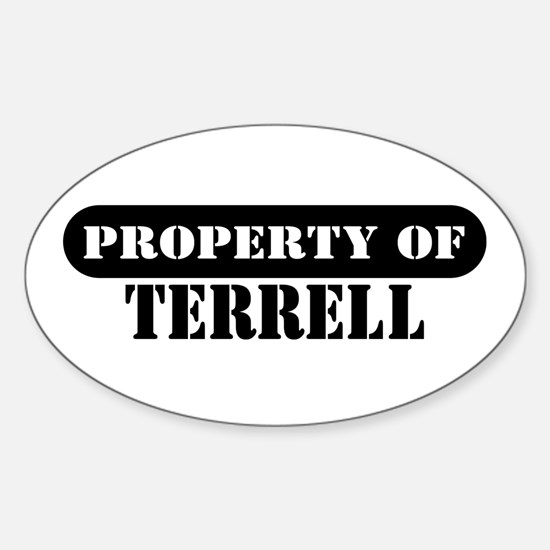Property of Terrell Oval Decal