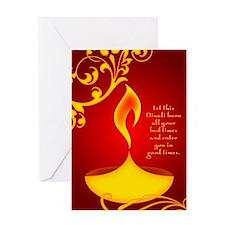 diwali candle Greeting Cards