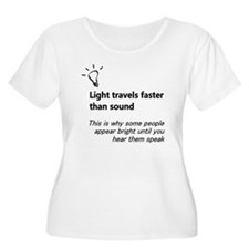Light Travels Faster Plus Size T-Shirt