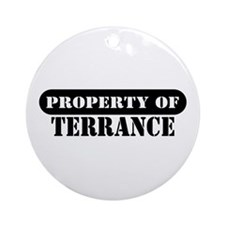 Property of Terrance Ornament (Round)