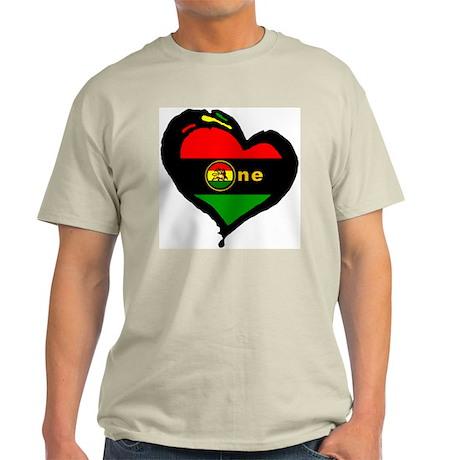Afro Rasta Lion Ash Grey T-Shirt